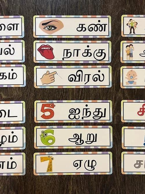 Tamil Flash Cards 3